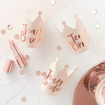 Team Bride Mini Hen Party Crowns - pack of 5